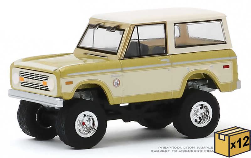 30135-CASE - Greenlight Diecast 1976 Ford Bronco Colorado Gold Rush Bicentennial