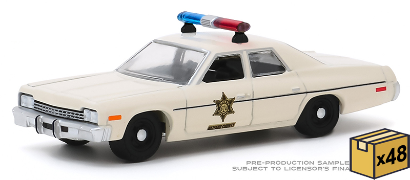 30140-MASTER - Greenlight Diecast Hazzard County Sheriff 1975 Dodge Monaco 48