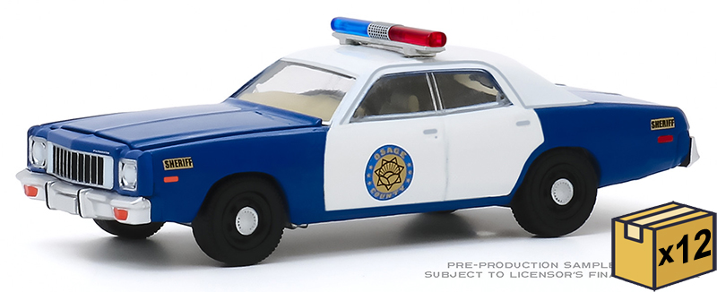 30151-CASE - Greenlight Diecast Osage County Sheriff 1975 Plymouth Fury 12