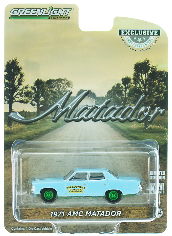 30153-SP - Greenlight Diecast Tri Counties Bonding Company 1971 AMC Matador