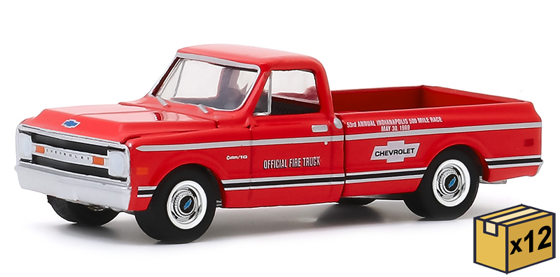 30164-CASE - Greenlight Diecast 1969 Chevrolet C 10 53rd Annual Indianapolis