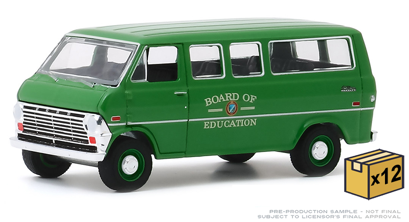 30170-CASE - Greenlight Diecast Board of Education 1970 Ford Club Wagon