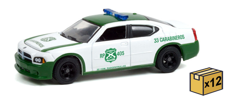 30270-CASE - Greenlight Diecast Carabineros de Chile 2006 Dodge Charger Police