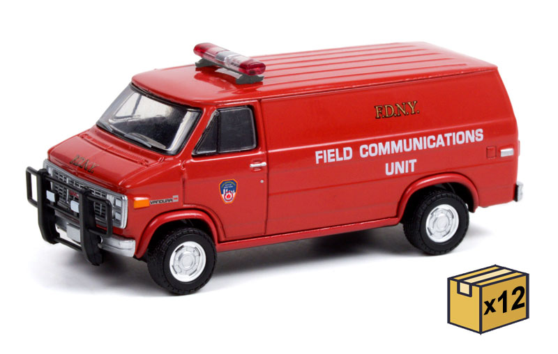 30277-CASE - Greenlight Diecast FDNY The Official Fire Department City of