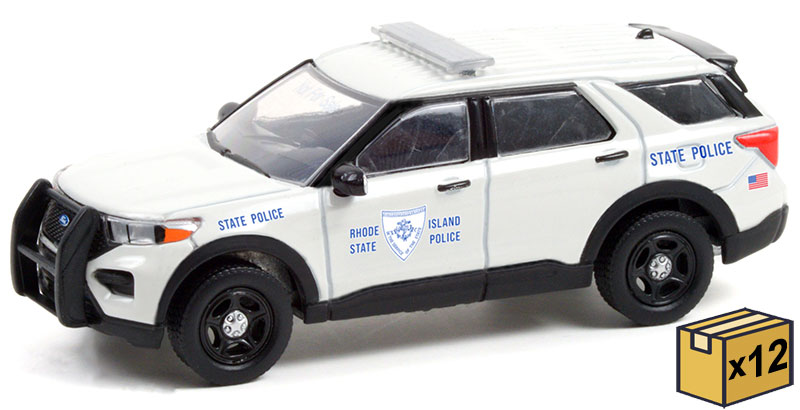 30295-CASE - Greenlight Diecast Rhode Island State Police 2020 Ford Police