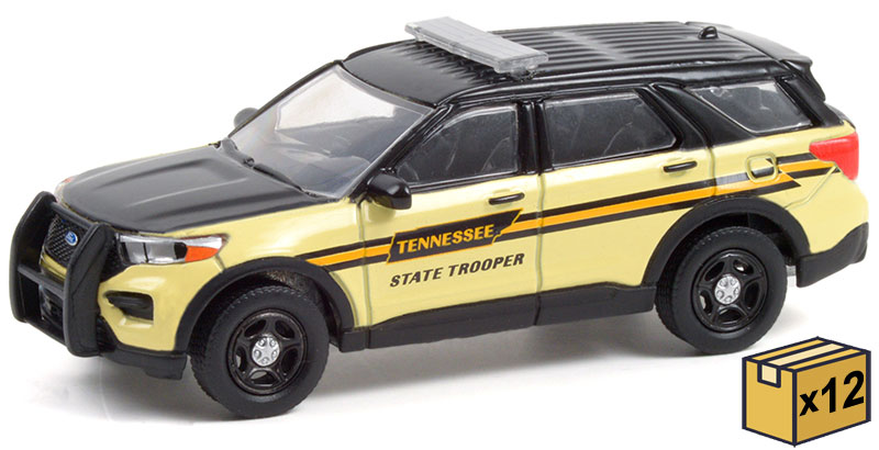 30296-CASE - Greenlight Diecast Tennessee State Trooper Hot Pursuit 2020 Ford