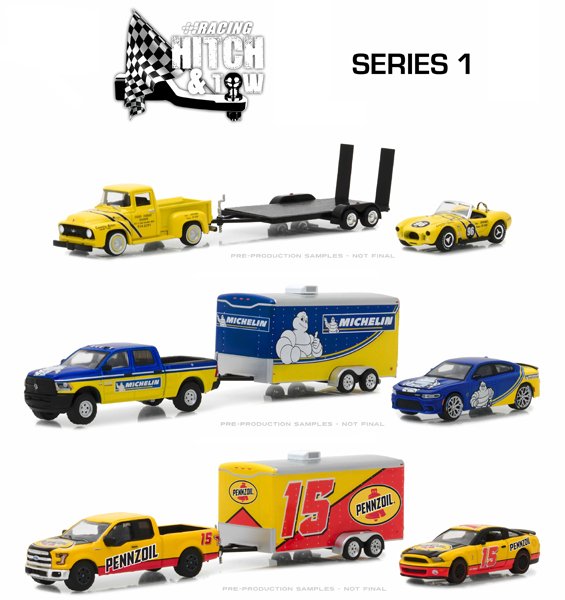 31050-CASE - Greenlight Diecast Racing Hitch Tow Series 1 6