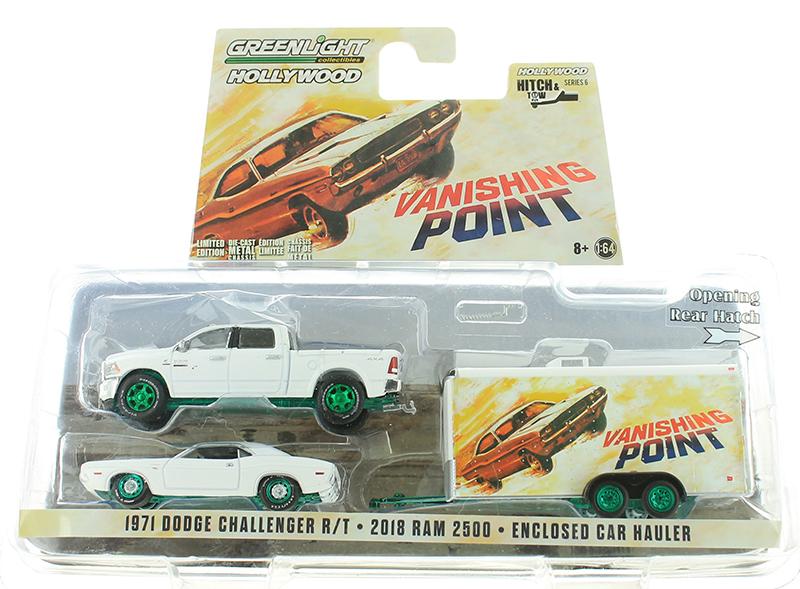 2018 Ram 2500 Hauler Vanishing Point 1:64 GreenLight 31070 Dodge Challenger