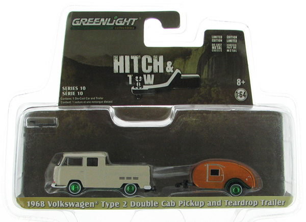32100-A-SP - Greenlight Diecast 1968 Volkswagen T2 Type 2 Double Cab