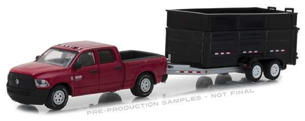 32140-D - Greenlight Diecast 2017 Ram 2500 and Double Axle Dump