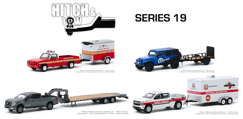 32190-MASTER - Greenlight Diecast Hitch and Tow Series 19 24 Piece