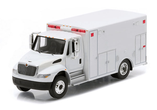 33041 - Greenlight Diecast 2013 International Durastar Ambulance Blank White Perfect