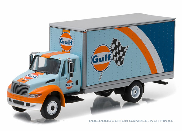 33070-B - Greenlight Diecast Gulf Oil 2013 International Durastar 4400 Box