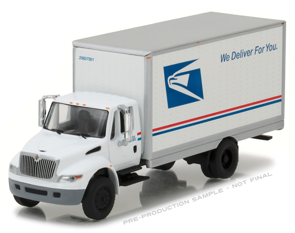33090-B - Greenlight Diecast USPS 2013 International Durastar Box Truck HD