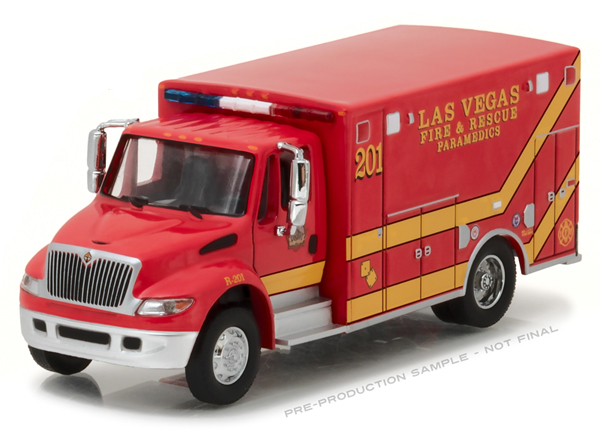 33090-C - Greenlight Diecast Las Vegas Fire Rescue 2013 International