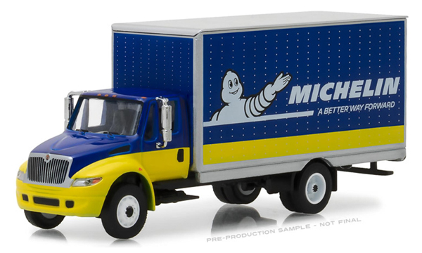 33120-C - Greenlight Diecast Michelin 2013 International Durastar Box Van HD