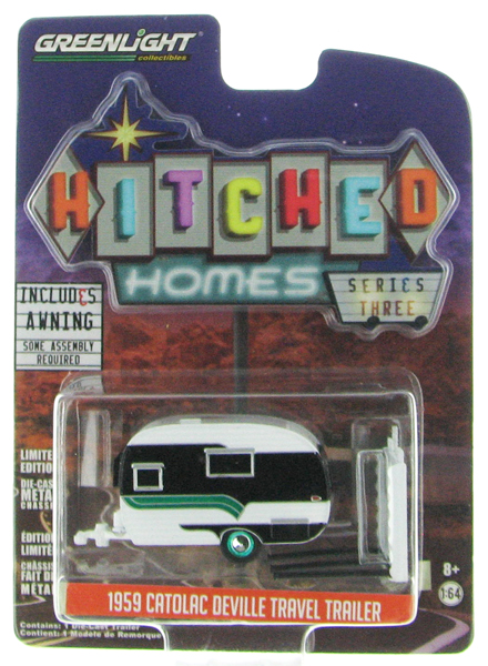 34030-B-SP - Greenlight Diecast 1959 Catolac DeVille Travel Trailer SPECIAL GREEN