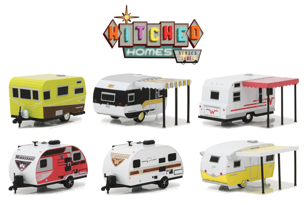34030-CASE - Greenlight Diecast Hitched Homes Series 3 6 Piece SET
