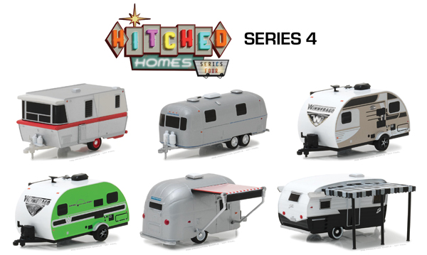34040-CASE - Greenlight Diecast Hitched Homes Series 4 6 Piece SET