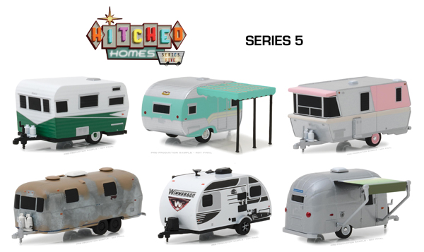 34050-CASE - Greenlight Diecast Hitched Homes Series 5 6 Piece SET