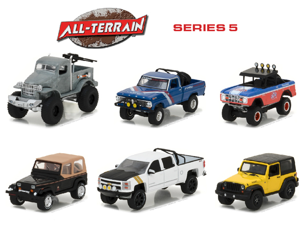 35070-CASE - Greenlight Diecast All Terrain Series 5 6 Piece Set