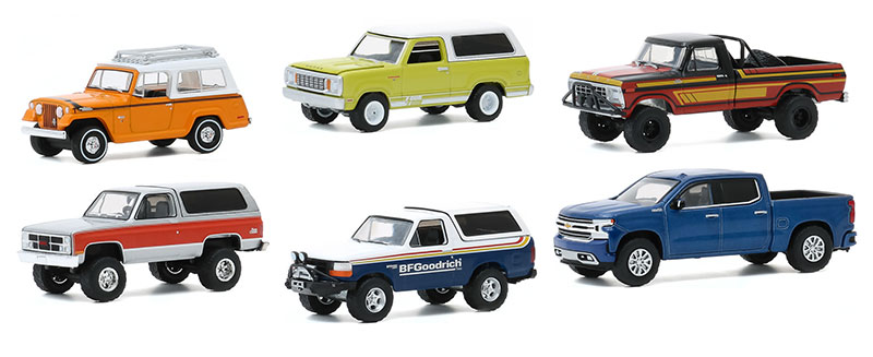 All Terrain Set of 6 Pieces Series 10 1//64 Diecast Model Cars by Greenlight 35170