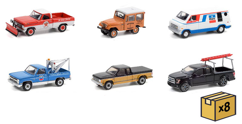 35200-MASTER - Greenlight Diecast Blue Collar Collection Series 9 48 Piece