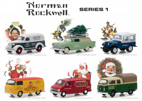 37150-CASE - Greenlight Diecast Norman Rockwell Series 1 6 Piece Case