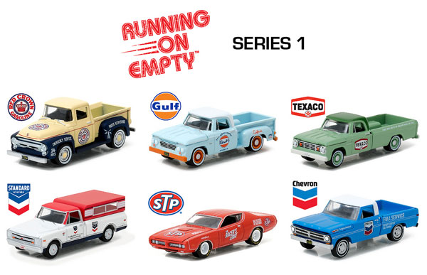41010-CASE - Greenlight Diecast Runnin on Empty Series 1 Six Piece