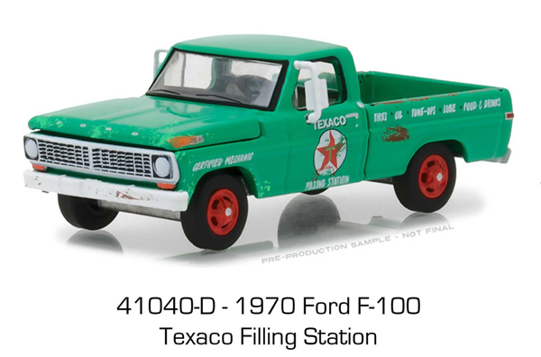 41040-D - Greenlight Diecast Texaco Filling Station 1970 Ford