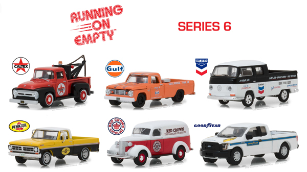 41060-CASE - Greenlight Diecast Running on Empty Series 6 Six Piece