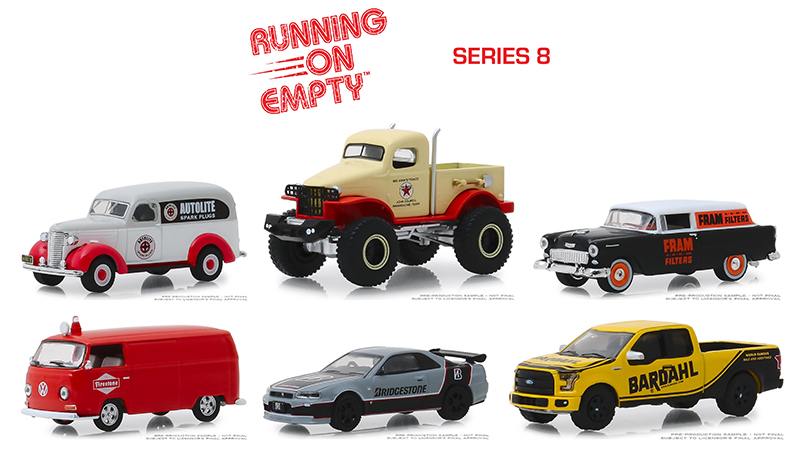 41080-CASE - Greenlight Diecast Running on Empty Series 8 Six Piece