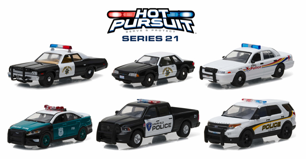 42780-CASE - Greenlight Hot Pursuit Series 21 Six Piece