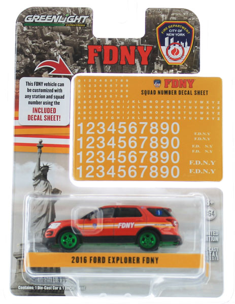 42823-SP - Greenlight Diecast FDNY 2016 Ford Interceptor Utility