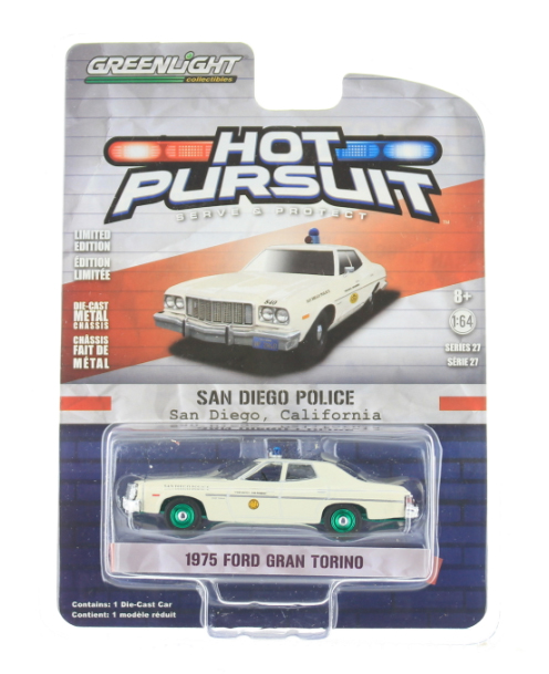 42840-A-SP - Greenlight Diecast San Diego California Police 1975 Ford Torino