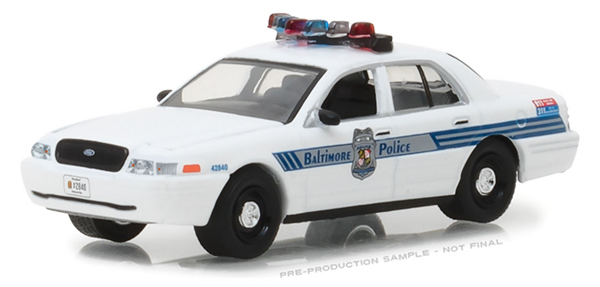 42840-D - Greenlight Diecast Baltimore Maryland Police 2008 Ford Crown Victoria