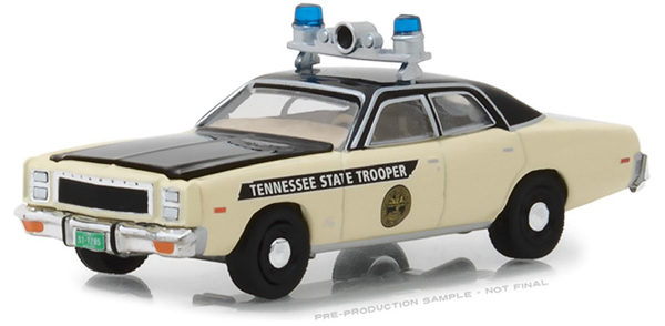 42850-A - Greenlight Diecast Tennessee State Police 1977 Plymouth Fury Hot