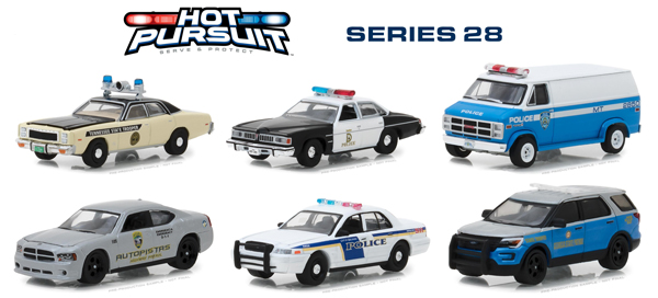42850-CASE - Greenlight Diecast Hot Pursuit Series 28 6 Piece Case