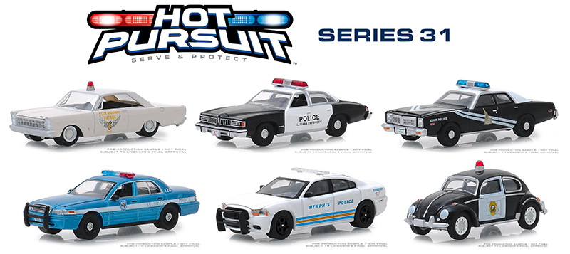 42880-CASE - Greenlight Diecast Hot Pursuit Series 31 6 Piece Case