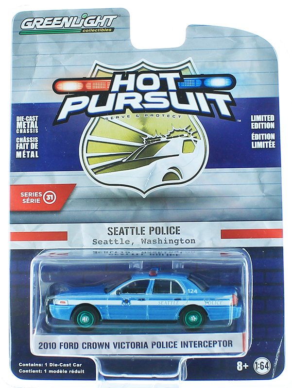 42880-D-SP - Greenlight Diecast 2010 Ford Crown Victoria Police Interceptor Seatlle