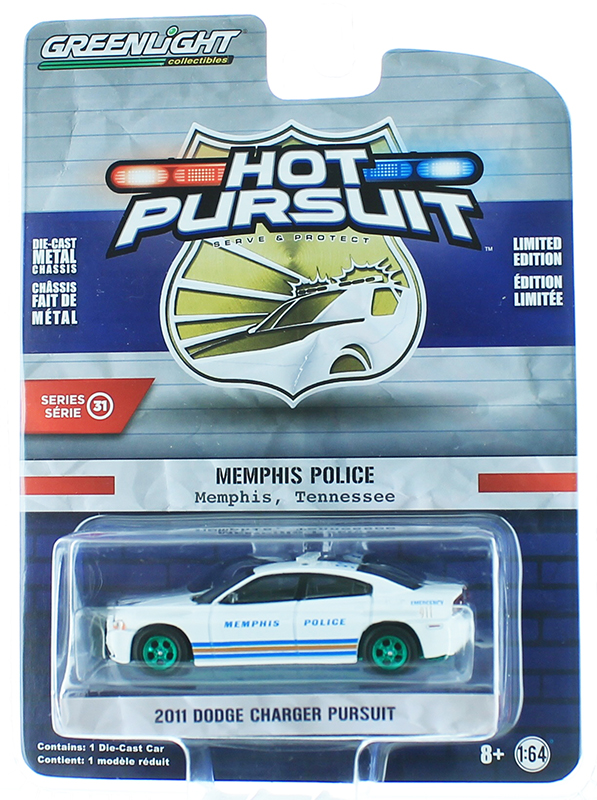 42880-E-SP - Greenlight Diecast 2011 Dodge Charger Memphis Tennessee Police SPECIAL