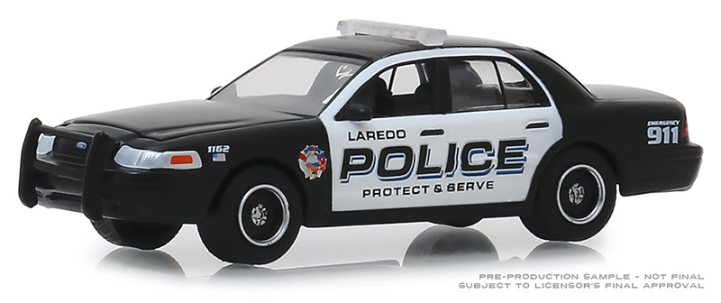 42890-E - Greenlight Diecast 2010 Ford Crown Victoria Police Interceptor Laredo