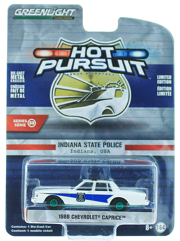 42900-B-SP - Greenlight Diecast Indiana State Police 1986 Chevrolet Caprice SPECIAL