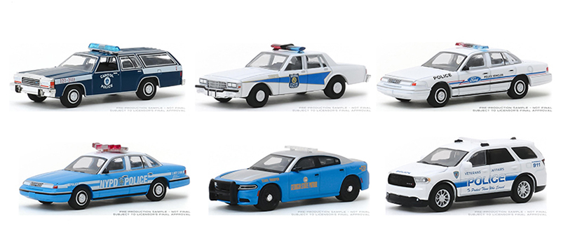 42900-CASE - Greenlight Diecast Hot Pursuit Series 33 6 Piece Set