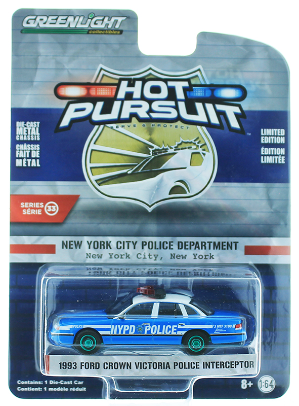 42900-D-SP - Greenlight Diecast New York City Police Department NYPD 1993