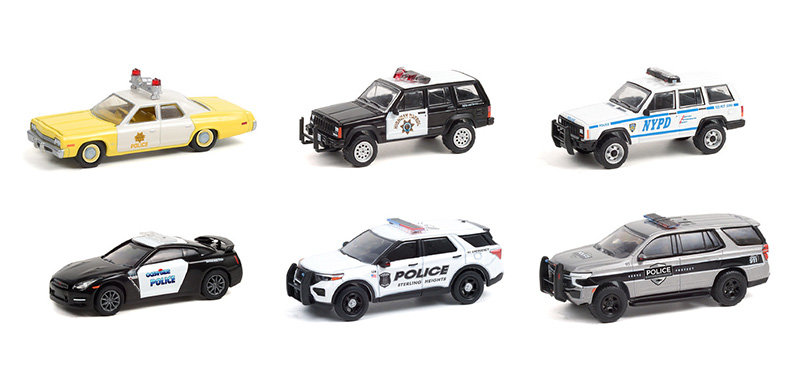 42960-CASE - Greenlight Diecast Hot Pursuit Series 38 6 Piece Set