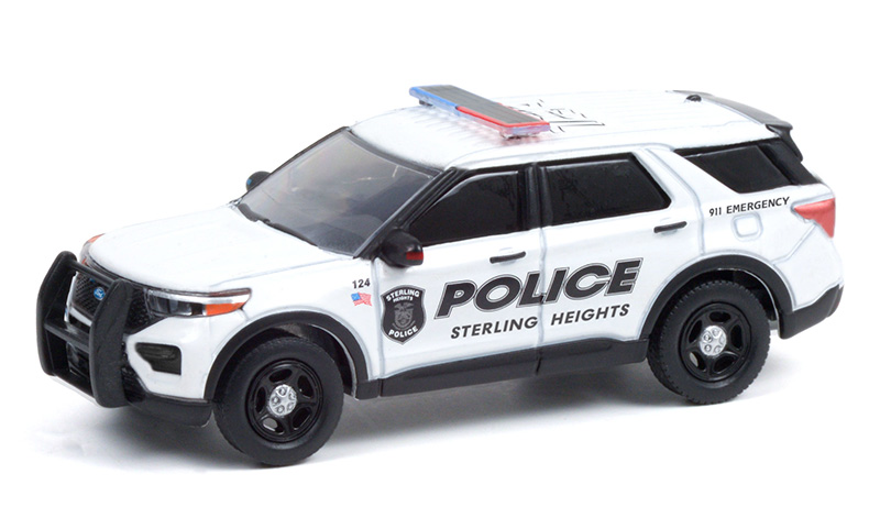 42960-E - Greenlight Diecast Sterling Heights Michigan 2020 Ford Police Interceptor
