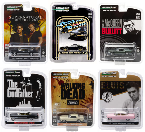 44712-CASE - Greenlight Diecast Hollywood Series Greatest Hits 2017 6 Piece