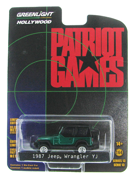 44730-B-SP - Greenlight 1987 Jeep Wrangler YJ Patriot Games