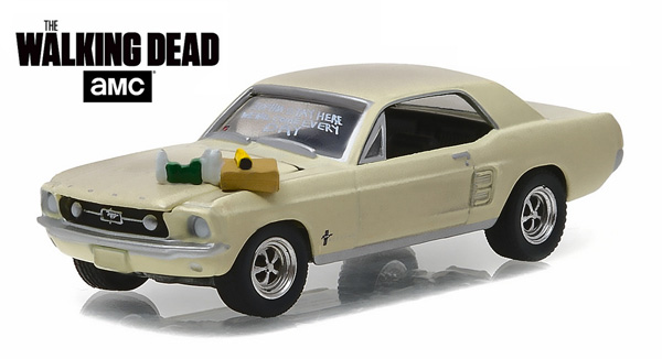 44750-E - Greenlight Diecast 1967 Ford Mustang Coupe Sophia Message Car